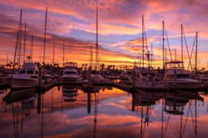 Beautiful Sunset Over Marina Sarasota